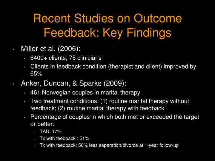 Recent Studies on Outcome Feedback: Key Findings