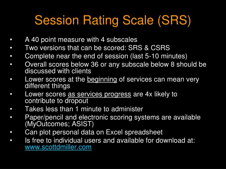 Session Rating Scale (SRS)
