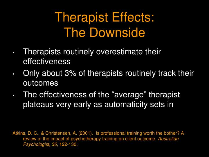 Therapist Effects:
