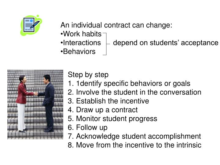 An individual contract can change:
