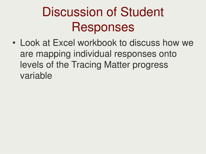 Discussion of Student Responses