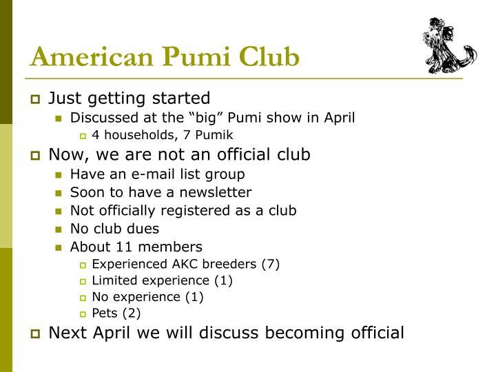American Pumi Club