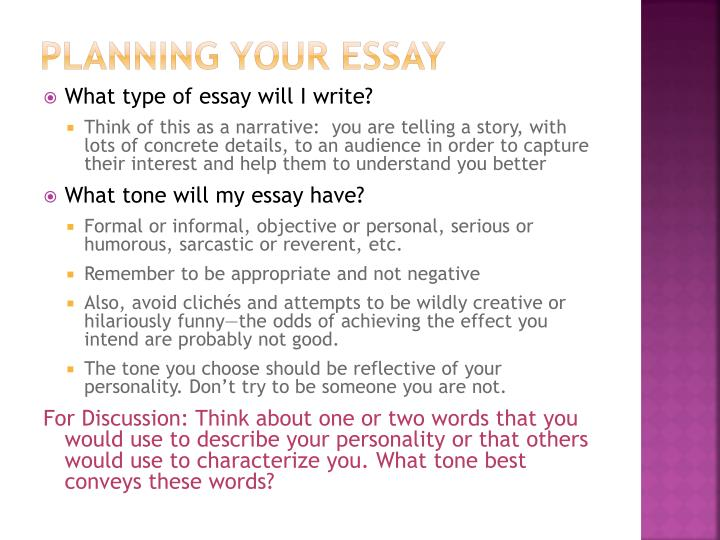 Planning Your Essay