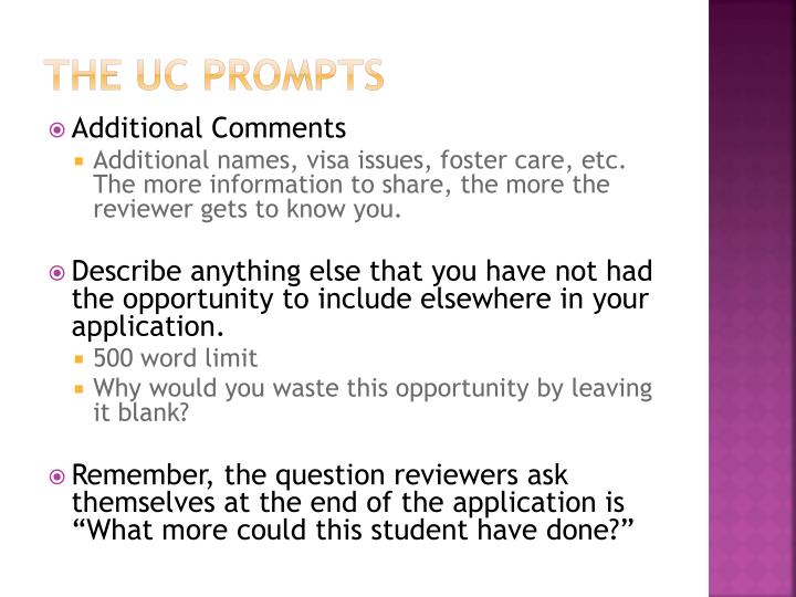 The UC Prompts