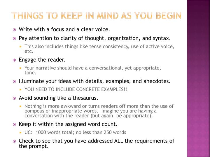 Things to Keep in Mind as You Begin