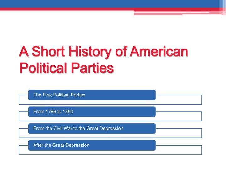 A Short History of American Political Parties