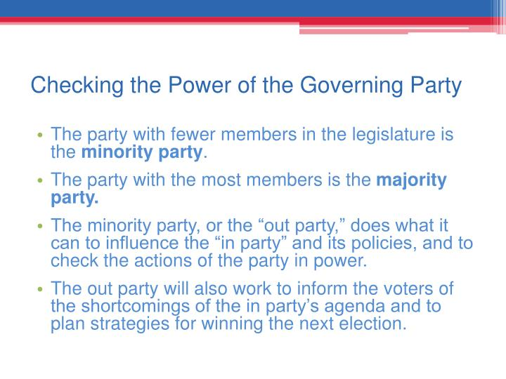 Checking the Power of the Governing Party