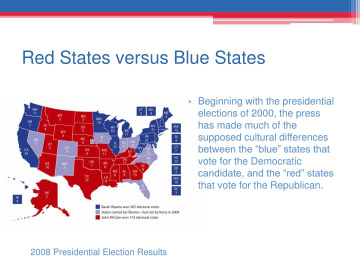Red States versus Blue States