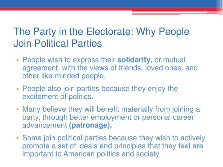 The Party in the Electorate: Why People Join Political Parties