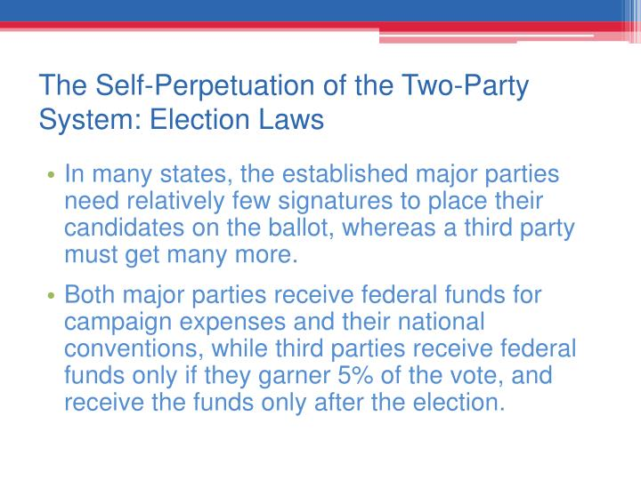 The Self-Perpetuation of the Two-Party System: Election Laws