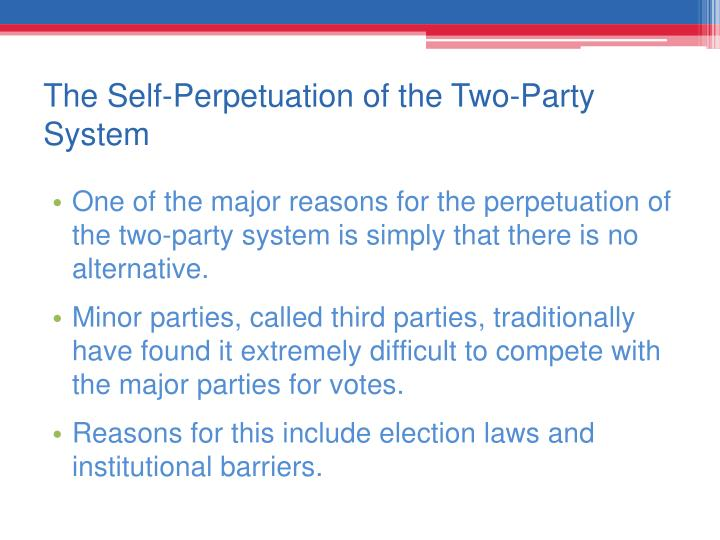 The Self-Perpetuation of the Two-Party System