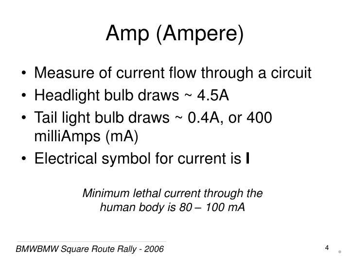 Amp (Ampere)