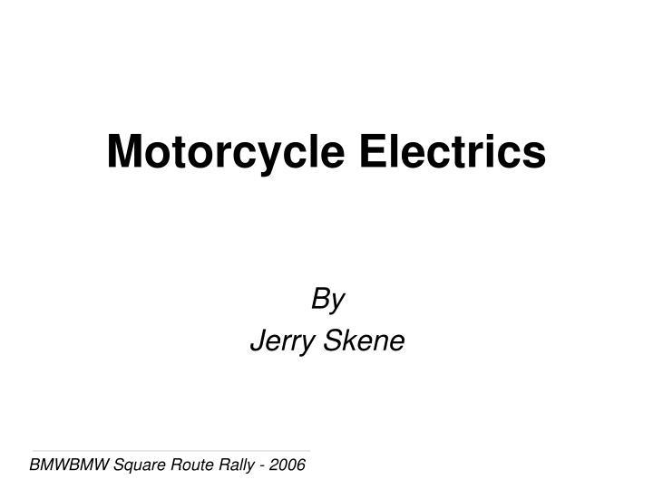 Motorcycle Electrics