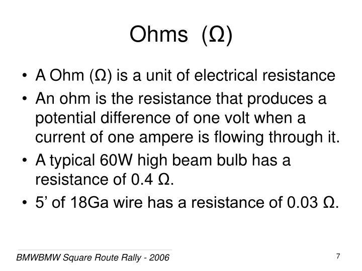 Ohms  (