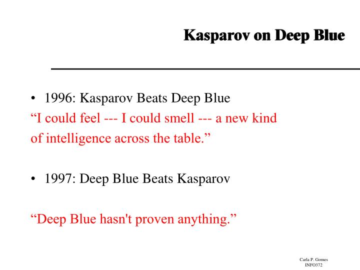 Kasparov on Deep Blue