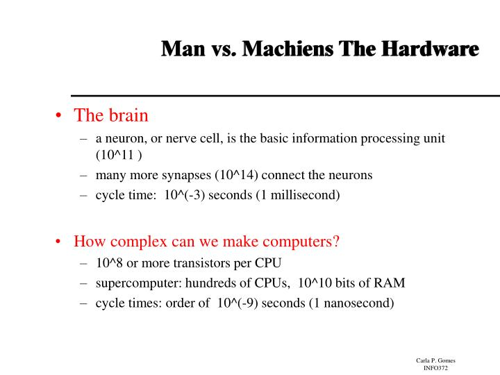 Man vs. Machiens The Hardware