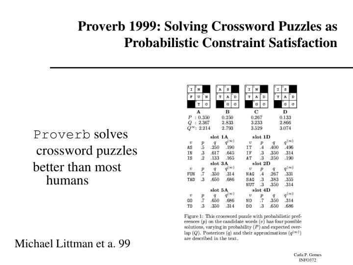 Proverb 1999: Solving Crossword Puzzles as