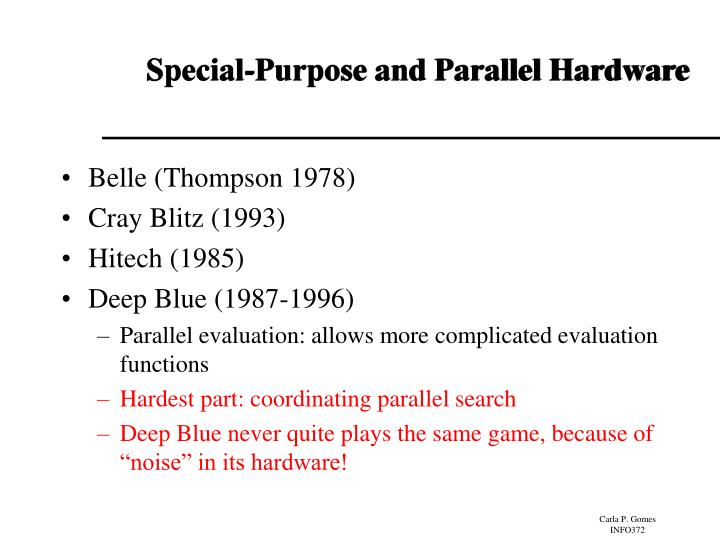 Special-Purpose and Parallel Hardware