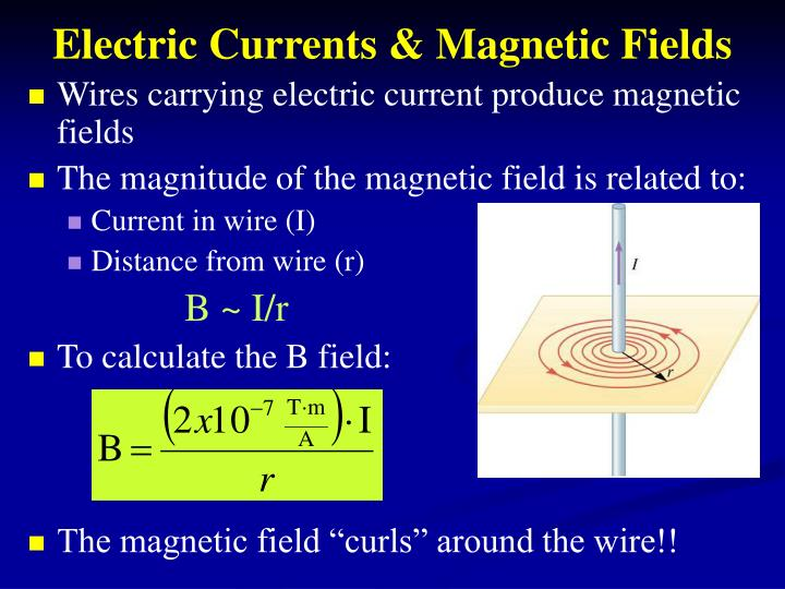 Electric Currents & Magnetic Fields