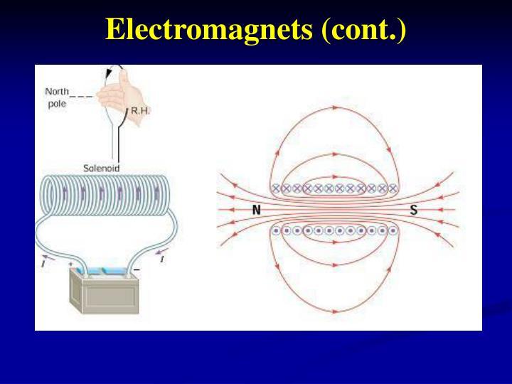 Electromagnets (cont.)