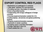 export control red flags