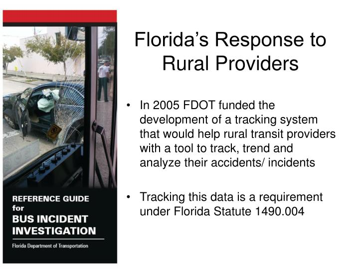 Florida's Response to Rural Providers