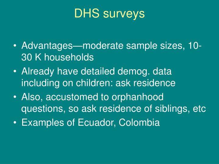 DHS surveys