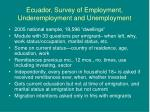 ecuador survey of employment underemployment and unemployment