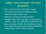 labour force surveys the best prospects