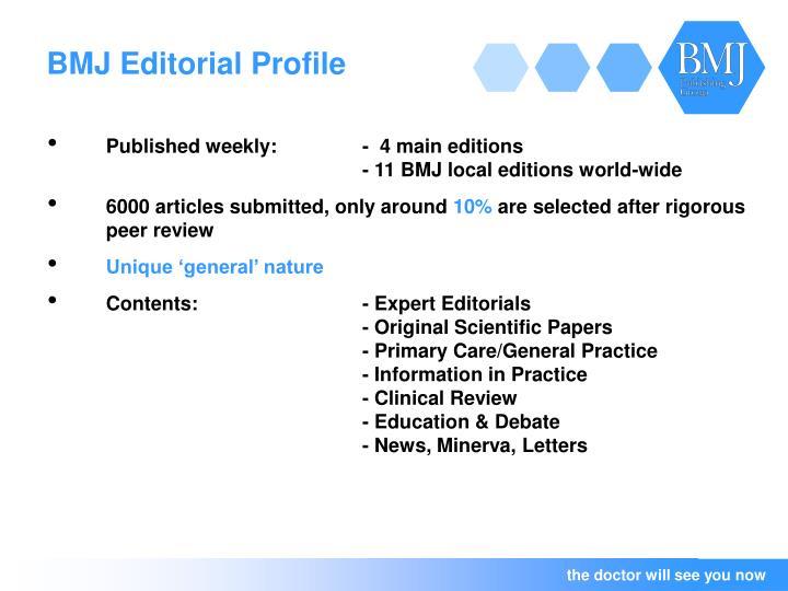 BMJ Editorial Profile