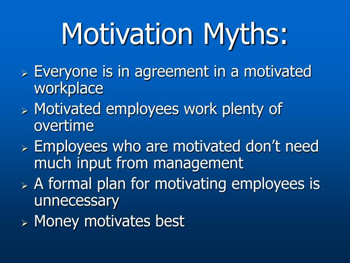Motivation Myths: