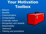 your motivation toolbox