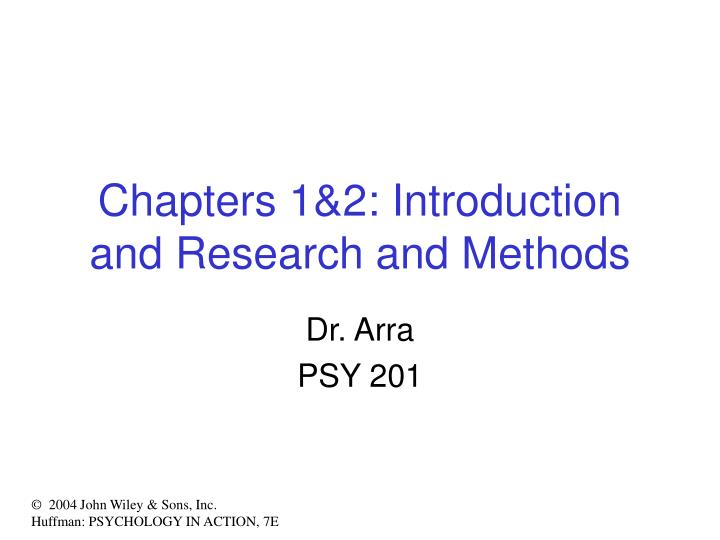 Chapters 1 2 introduction and research and methods