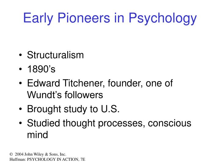 Early Pioneers in Psychology