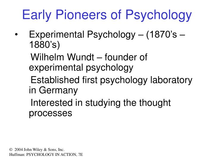 Early Pioneers of Psychology