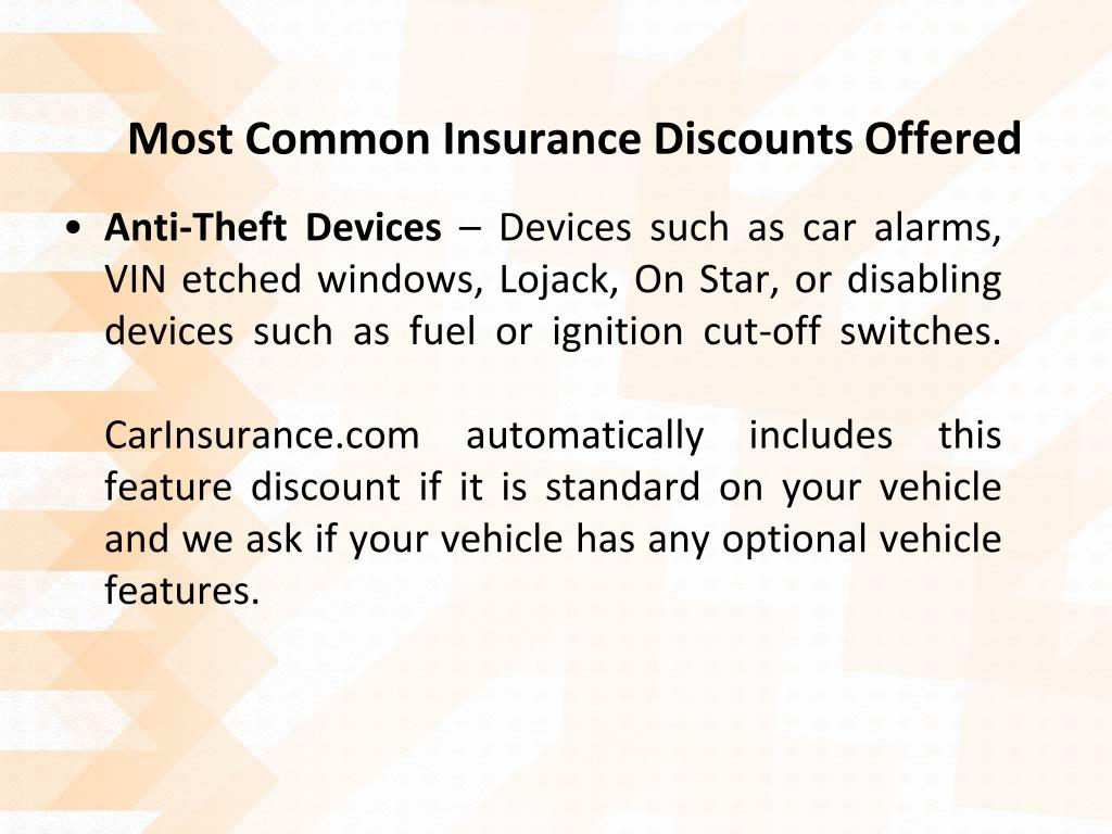 Most Common Insurance Discounts Offered