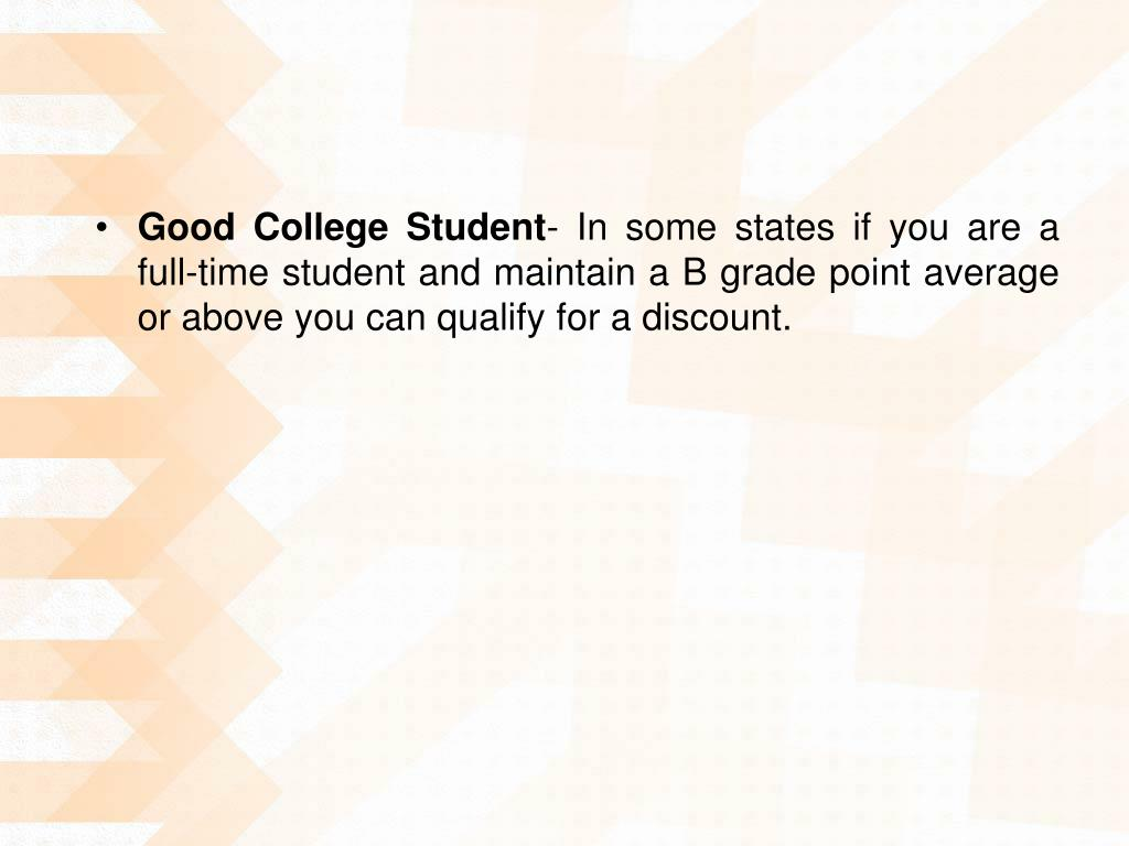 Good College Student