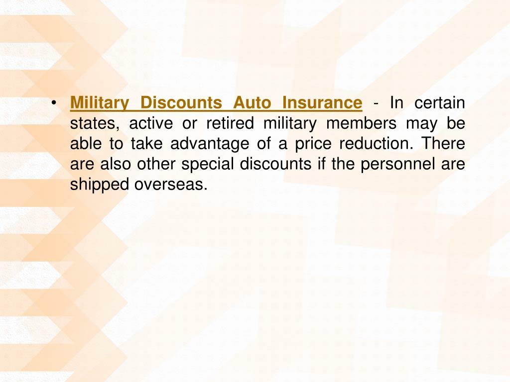 Military Discounts Auto Insurance
