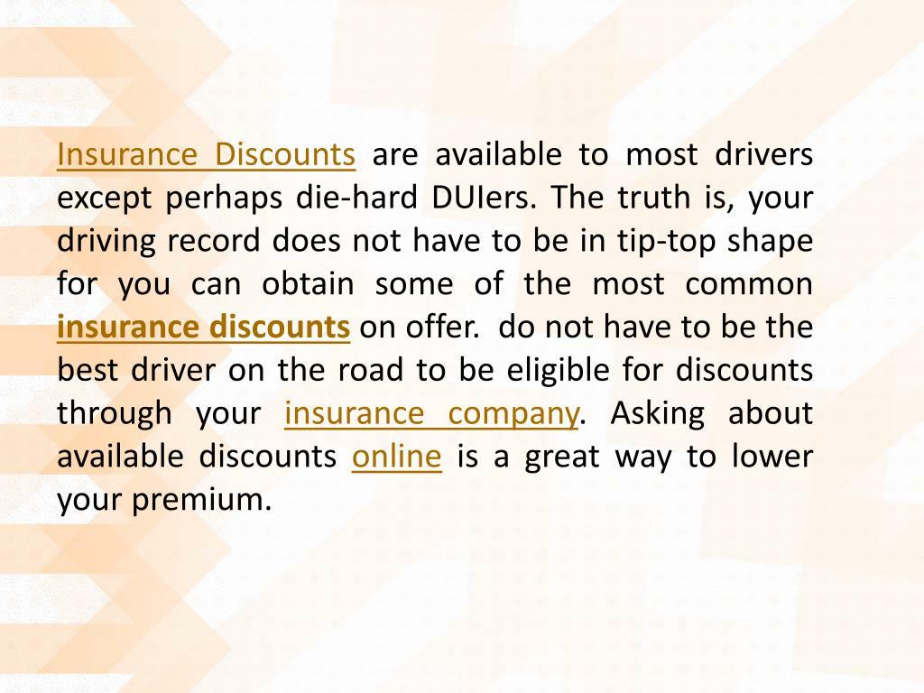 Insurance Discounts