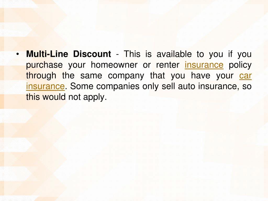 Multi-Line Discount