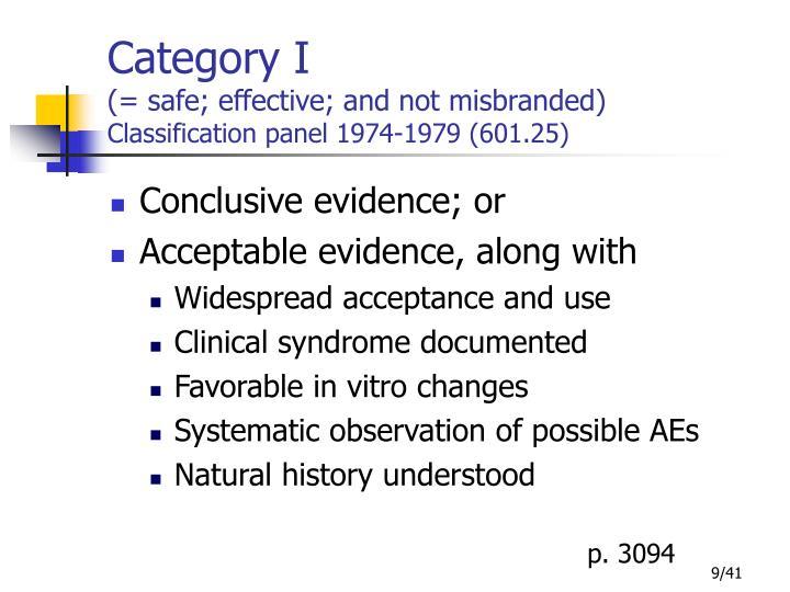 Category I