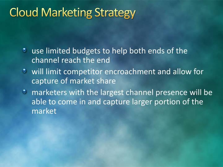 Cloud Marketing Strategy