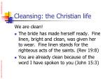 cleansing the christian life