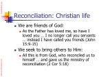 reconciliation christian life