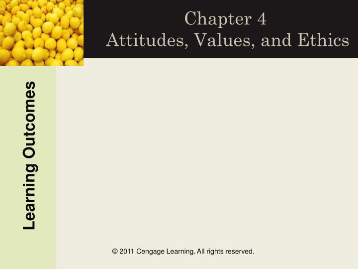 Chapter 4 attitudes values and ethics
