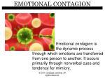 emotional contagion