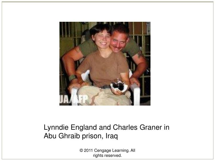 Lynndie England and Charles Graner in