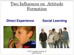 two influences on attitude formation