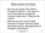 wsj article ua pilot