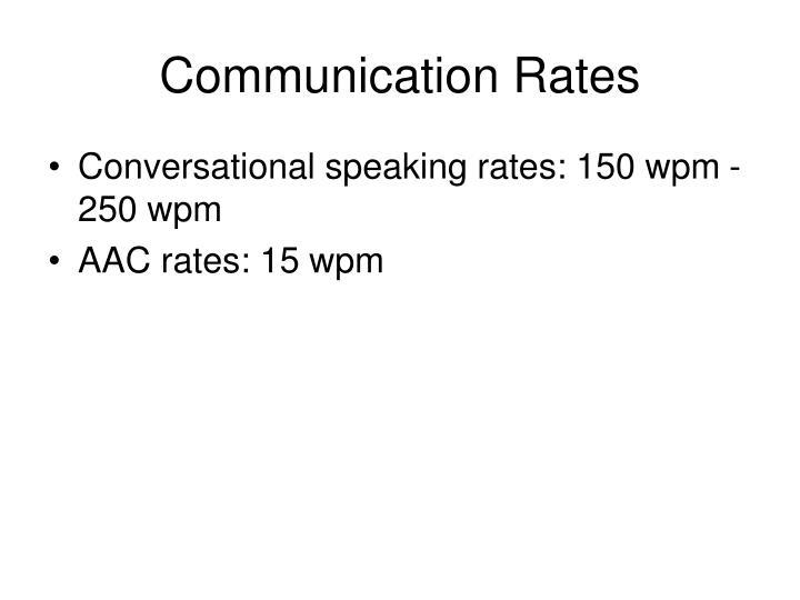 Communication Rates